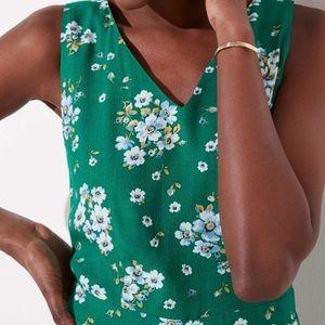 LOFT Pants - NWT LOFT Green Floral Romper SO CUTE! Size 8